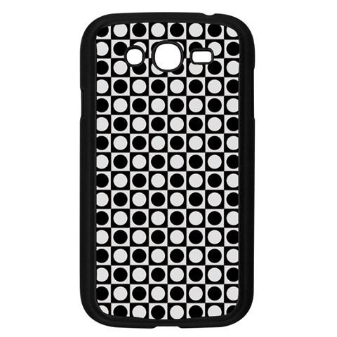 Modern Dots In Squares Mosaic Black White Samsung Galaxy Grand DUOS I9082 Case (Black)