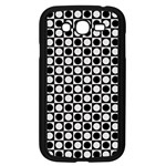 Modern Dots In Squares Mosaic Black White Samsung Galaxy Grand DUOS I9082 Case (Black) Front