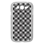 Modern Dots In Squares Mosaic Black White Samsung Galaxy Grand DUOS I9082 Case (White) Front