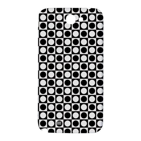 Modern Dots In Squares Mosaic Black White Samsung Note 2 N7100 Hardshell Back Case
