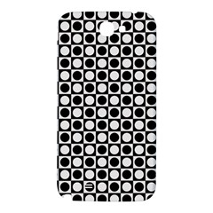 Modern Dots In Squares Mosaic Black White Samsung Note 2 N7100 Hardshell Back Case