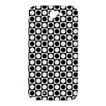 Modern Dots In Squares Mosaic Black White Samsung Note 2 N7100 Hardshell Back Case Front