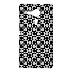 Modern Dots In Squares Mosaic Black White Sony Xperia SP