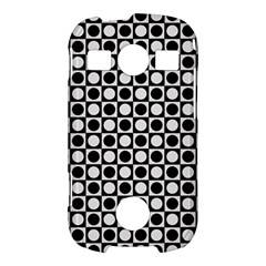 Modern Dots In Squares Mosaic Black White Samsung Galaxy S7710 Xcover 2 Hardshell Case
