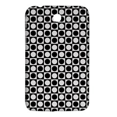 Modern Dots In Squares Mosaic Black White Samsung Galaxy Tab 3 (7 ) P3200 Hardshell Case