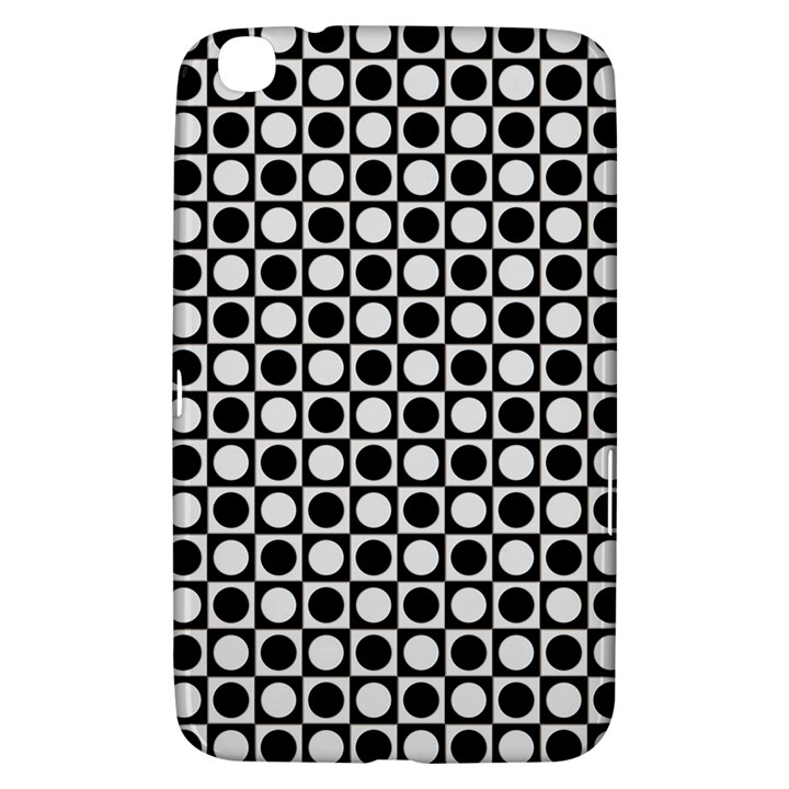 Modern Dots In Squares Mosaic Black White Samsung Galaxy Tab 3 (8 ) T3100 Hardshell Case