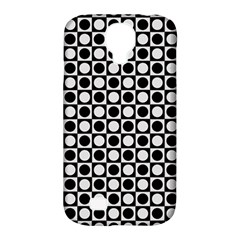 Modern Dots In Squares Mosaic Black White Samsung Galaxy S4 Classic Hardshell Case (PC+Silicone)