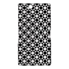 Modern Dots In Squares Mosaic Black White Sony Xperia Z Ultra