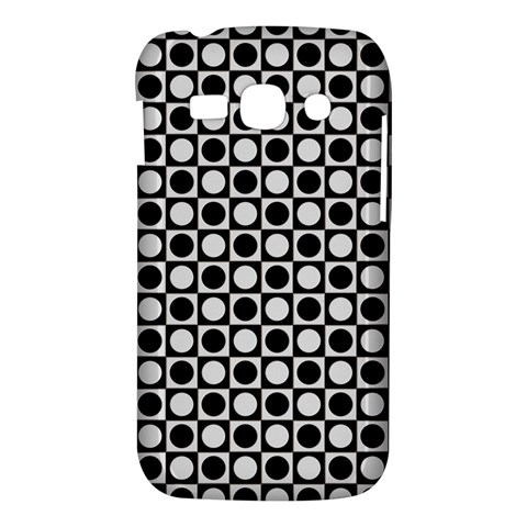 Modern Dots In Squares Mosaic Black White Samsung Galaxy Ace 3 S7272 Hardshell Case