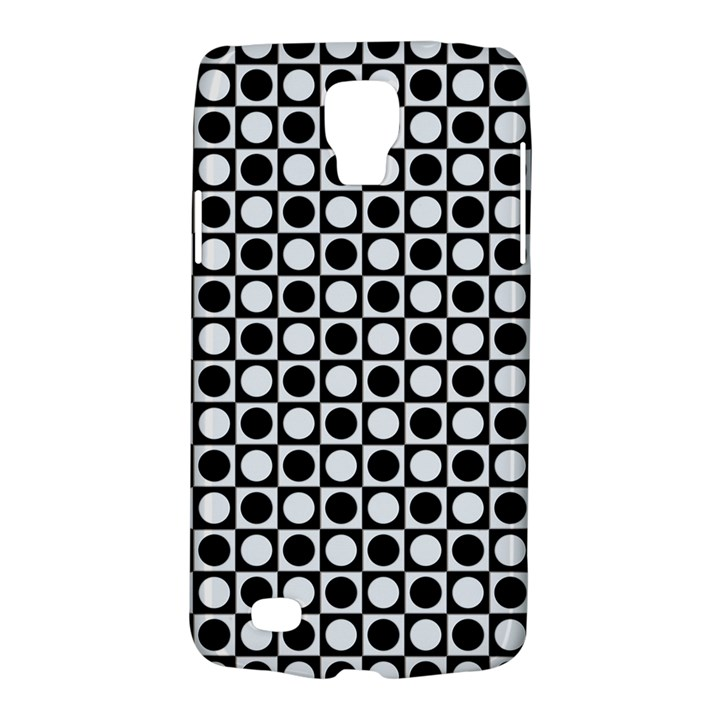 Modern Dots In Squares Mosaic Black White Galaxy S4 Active