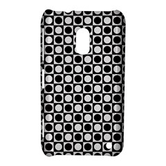 Modern Dots In Squares Mosaic Black White Nokia Lumia 620