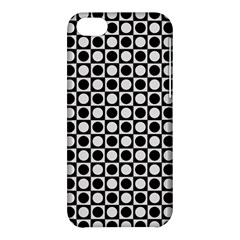 Modern Dots In Squares Mosaic Black White Apple Iphone 5c Hardshell Case
