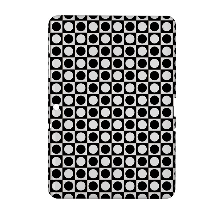 Modern Dots In Squares Mosaic Black White Samsung Galaxy Tab 2 (10.1 ) P5100 Hardshell Case