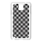 Modern Dots In Squares Mosaic Black White Samsung Galaxy Note 3 N9005 Case (White) Front