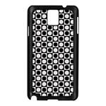Modern Dots In Squares Mosaic Black White Samsung Galaxy Note 3 N9005 Case (Black) Front