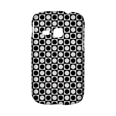 Modern Dots In Squares Mosaic Black White Samsung Galaxy S6310 Hardshell Case