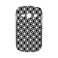 Modern Dots In Squares Mosaic Black White Samsung Galaxy S6810 Hardshell Case