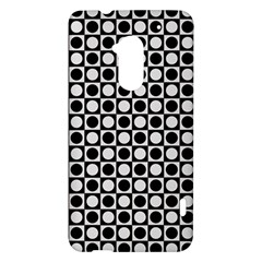 Modern Dots In Squares Mosaic Black White HTC One Max (T6) Hardshell Case