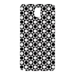 Modern Dots In Squares Mosaic Black White Samsung Galaxy Note 3 N9005 Hardshell Back Case Front