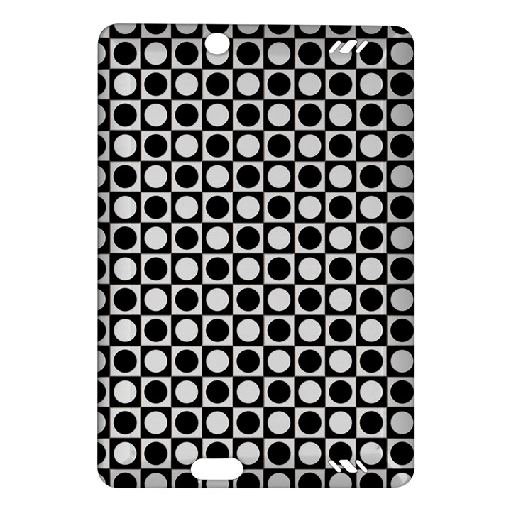 Modern Dots In Squares Mosaic Black White Amazon Kindle Fire HD (2013) Hardshell Case