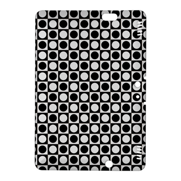 Modern Dots In Squares Mosaic Black White Kindle Fire HDX 8.9  Hardshell Case