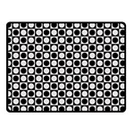 Modern Dots In Squares Mosaic Black White Double Sided Fleece Blanket (Small)  50 x40 Blanket Front