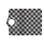 Modern Dots In Squares Mosaic Black White Kindle Fire HD (2013) Flip 360 Case Front