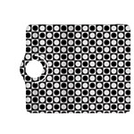 Modern Dots In Squares Mosaic Black White Kindle Fire HDX 8.9  Flip 360 Case Front