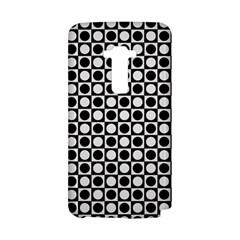 Modern Dots In Squares Mosaic Black White LG G Flex