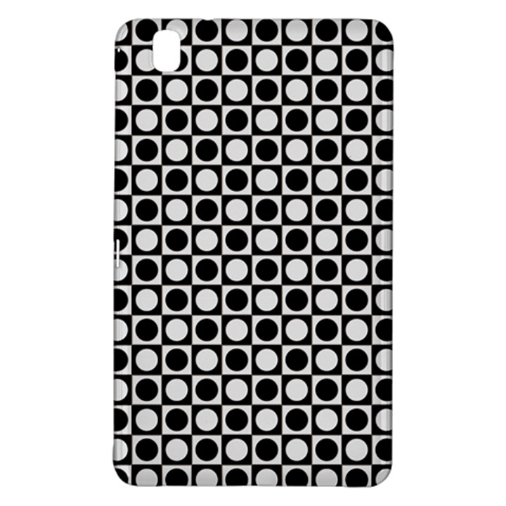 Modern Dots In Squares Mosaic Black White Samsung Galaxy Tab Pro 8.4 Hardshell Case