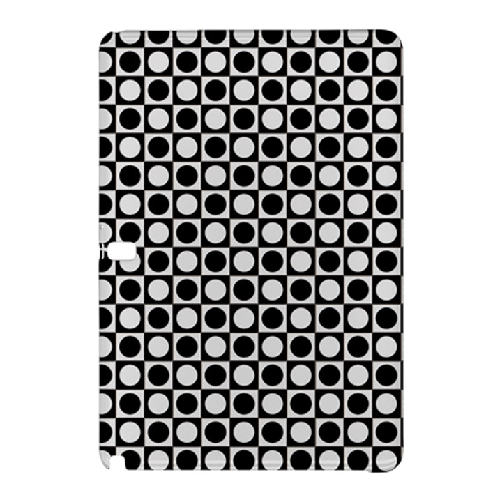 Modern Dots In Squares Mosaic Black White Samsung Galaxy Tab Pro 12.2 Hardshell Case