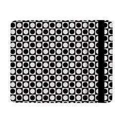 Modern Dots In Squares Mosaic Black White Samsung Galaxy Tab Pro 8 4  Flip Case