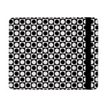 Modern Dots In Squares Mosaic Black White Samsung Galaxy Tab Pro 8.4  Flip Case Front