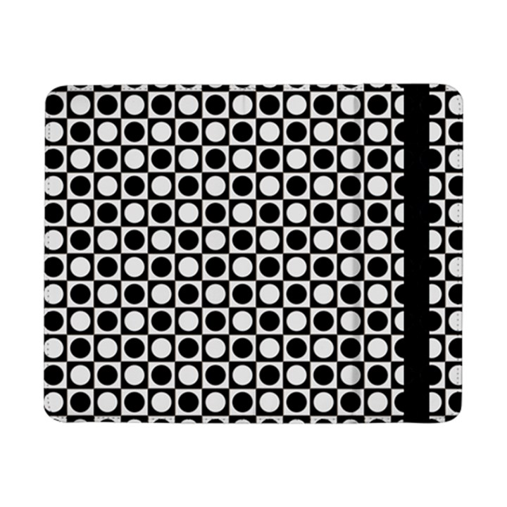 Modern Dots In Squares Mosaic Black White Samsung Galaxy Tab Pro 8.4  Flip Case