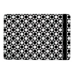 Modern Dots In Squares Mosaic Black White Samsung Galaxy Tab Pro 10 1  Flip Case