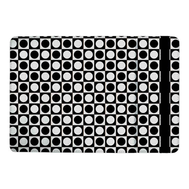 Modern Dots In Squares Mosaic Black White Samsung Galaxy Tab Pro 10.1  Flip Case