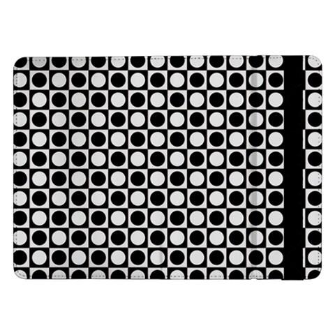 Modern Dots In Squares Mosaic Black White Samsung Galaxy Tab Pro 12.2  Flip Case