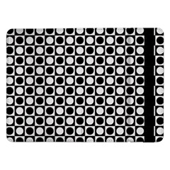 Modern Dots In Squares Mosaic Black White Samsung Galaxy Tab Pro 12.2  Flip Case