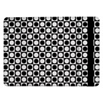 Modern Dots In Squares Mosaic Black White Samsung Galaxy Tab Pro 12.2  Flip Case Front
