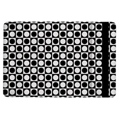 Modern Dots In Squares Mosaic Black White Ipad Air Flip
