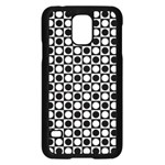 Modern Dots In Squares Mosaic Black White Samsung Galaxy S5 Case (Black) Front
