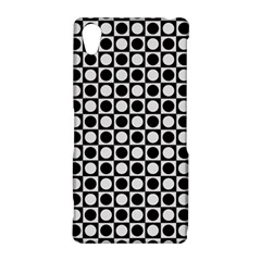 Modern Dots In Squares Mosaic Black White Sony Xperia Z2