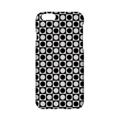 Modern Dots In Squares Mosaic Black White Apple Iphone 6/6s Hardshell Case