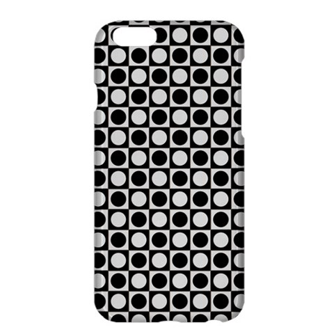 Modern Dots In Squares Mosaic Black White Apple iPhone 6 Plus/6S Plus Hardshell Case
