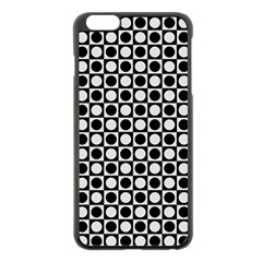 Modern Dots In Squares Mosaic Black White Apple iPhone 6 Plus/6S Plus Black Enamel Case