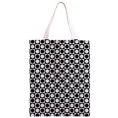 Modern Dots In Squares Mosaic Black White Classic Light Tote Bag