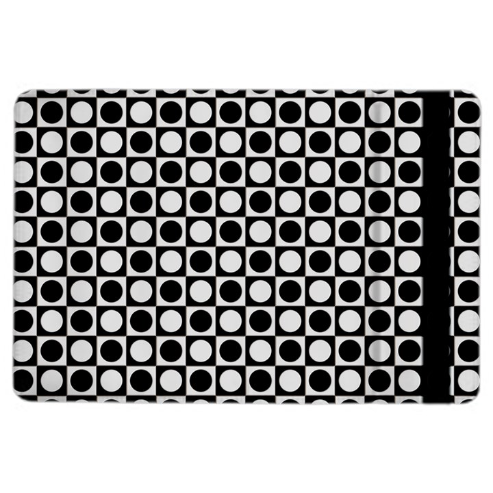 Modern Dots In Squares Mosaic Black White iPad Air 2 Flip