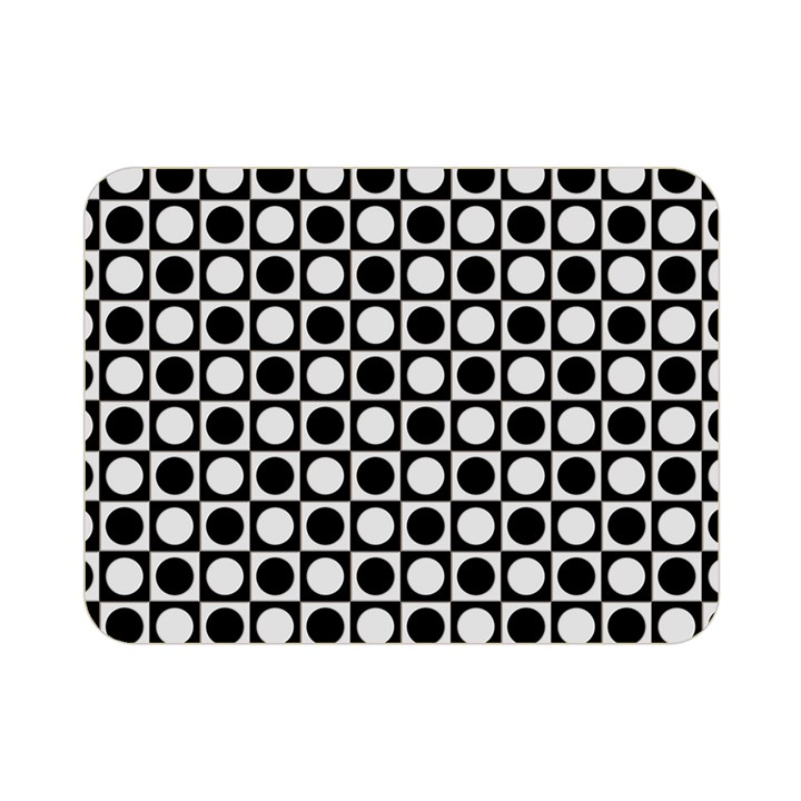 Modern Dots In Squares Mosaic Black White Double Sided Flano Blanket (Mini)