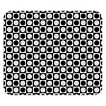 Modern Dots In Squares Mosaic Black White Double Sided Flano Blanket (Small)  50 x40 Blanket Back