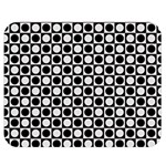 Modern Dots In Squares Mosaic Black White Double Sided Flano Blanket (Medium)  60 x50 Blanket Front